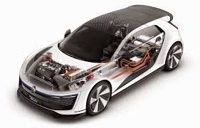 hybrid sports cars volkswagen premiere the golf gte sport plug in hybrid sports car