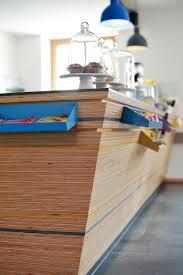 plywood counter detail cafe sighting pinterest plywood
