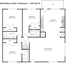 Floor Plan Flat by Whistlebury Walk Whistlebury Properties Athens Georgia