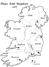 Map Ireland A Map Of Ireland U0027s Rival Kingdoms C 1170 Irish History Podcast
