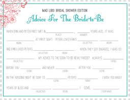 bridal mad libs bridal shower invitations bridal shower mad libs collected