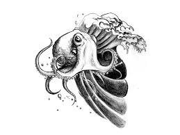octopus on the waves tattoo meaning tattoo design ideas