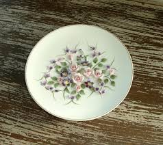 lefton china pattern vintage lefton china plate painted ivory bisque flower