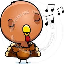 cartoon baby turkey singing by cory thoman toon vectors eps 3541