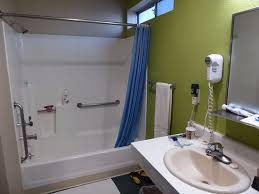 shower wrap around vinyl walls no mold grab bars picture of