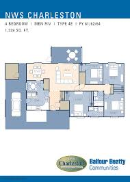 Charleston Floor Plan by Jb Charleston Men Riv A U0026 B Neighborhood Floorplan 4 Bedroom