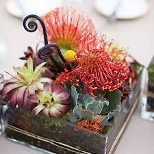 wedding reception tropical centerpiece ideas