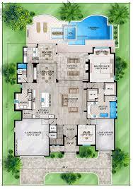 house plan 52918 at familyhomeplans com coastal mediterranean house plan 52918 level one