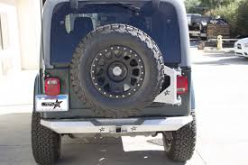 jeep rear bumper with tire carrier ultra series tj and lj body mounted tire carrier lj ultra