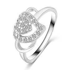 love rings designs images Fashion white gold color jewelry love rings heart design female jpg