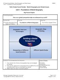 6th grade foundations of world geography geography geographic