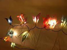 Homemade Light Decorations Origami Crane Garland Lantern String Light By Origamibywingy