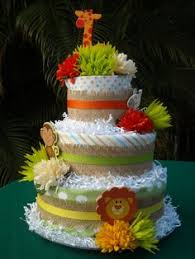 Jungle Diaper Cake Baby Showers Pinterest Diapers Cake And