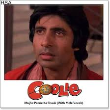 biography of movie coolie mujhe peene ka shauk with male vocals coolie