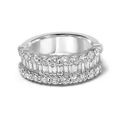 baguette diamond band white gold baguette and diamond band jewelmi