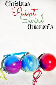 paint swirl ornaments in lieu of preschool
