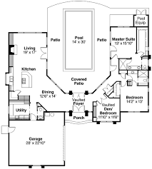 house plans with pool house house surrounding pool pic plan w72108da florida mediterranean