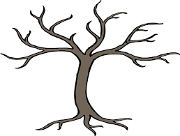 tree with 3 branches clip at clker vector clip