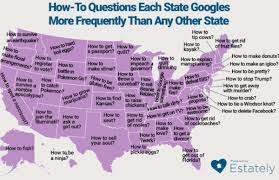 New Orleans State Map by Map Shows The Most Frequently Googled How To Questions In Each