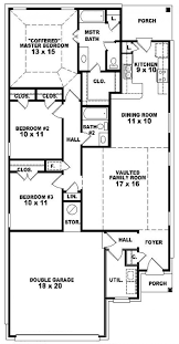 One Story House Blueprints Four Bedroom Single Story House Plans Bedroom Bath Story House