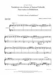 wedding dress chords piano te velde variations on a theme of samuel scheidt puer natus in