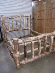 Log Queen Bed Frame I Want This Bed It Makes Me Think Of The 3 Bears Log Furniture