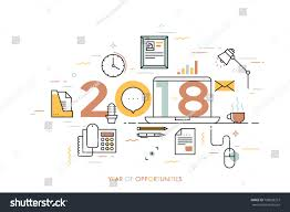 home office graphic design jobs infographic concept 2018 year opportunities plans stock vector