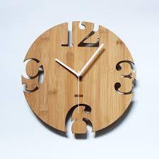 unique wall clocks unique bamboo wall clock numeric cutter by