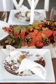thanksgiving table scape positively oakes