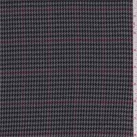 Black And White Check Upholstery Fabric Houndstooth Fabric Fashion Fabrics