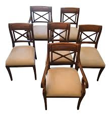 baker regency dining room chairs set of 6 chairish
