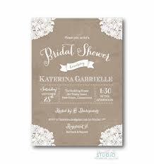etsy wedding shower invitations vintage lace rustic bridal shower invitation shabby chic wedding