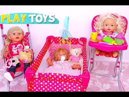 baby doll nursery playset dimples playing dolls stroller bed
