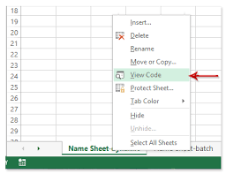 how to name sheets based on cell values from list in excel