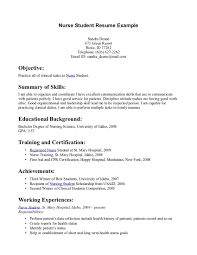 Resume Sample Objectives For Internship by Resume Examples Objective Education Student Clinical Experience