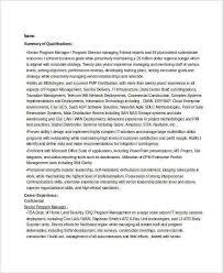 Program Director Resume Sample by Program Management Resume Jobs Billybullock Us