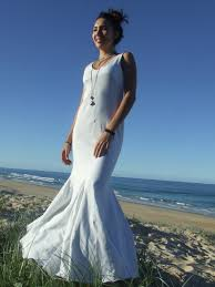 beach wedding dresswhite maxi dress low vback godets by globalvibe