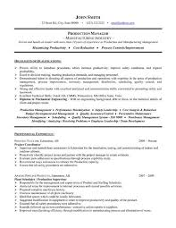 Production Supervisor Job Description For Resume by Program Manager Cv Sample Resume Summary Examples It Project Doc