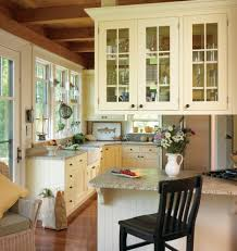 floating white kitchen cabinet glass door country cottage style