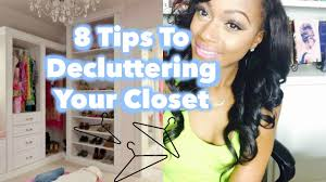 tips to downsizing u0026 decluttering your closet youtube