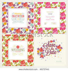 vector illustration floral tags set flowers stock vector 340087505