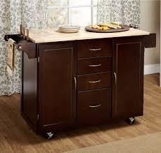 kitchen cart rolling island storage cabinet drawer shelf wood