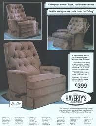 la z boy rocker recliner 1986 ad advertisement gallery