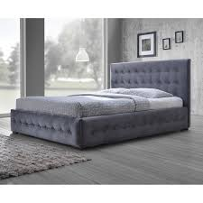 Fabric Platform Bed Emerald Home Upholstered Platform Bed Hayneedle