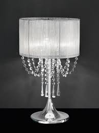Black And Crystal Table Lamps Tl970 Empress Table Lamp Chrome U0026 Crystal With A Fabric Shade