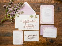 lavender wedding invitations lavender and copper wedding inspiration ruffled
