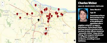 Portland Oregon Crime Map by Portland U0027s 16 Homicides In 2013 Are Fewest In More Than 40 Years