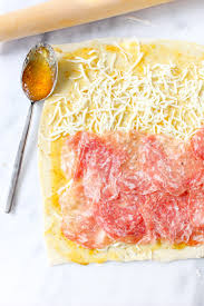 soppressata goat cheese fig pastry pinwheels