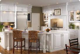 kitchen brown chery kitchen l shaped layout with island of