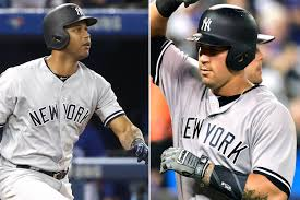 Aaron Judge Gary Sanchez Struggle In Game 1 Loss To Indians Newsday - aaron hicks and gary sanchez outbursts propel cc yankees